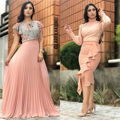1 ou 2? Qual você usaria? Esses looks MARAVILHOSOS são da loja @porkatiavilar uma loja com lindas peças de moda clássica ❤ vocês precisam… Curvy Outfits, Classy Outfits, Chic Outfits, Fashion Outfits, Modest Dresses, Pretty Dresses, Beautiful Dresses, Skirt Outfits, Dress Skirt