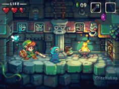 Zelda 2 - Pixel Art Mockup #pixelart