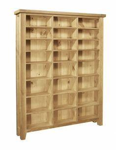 Chiltern Oak CD/DVD rack £466.99 Oak Furniture Solutions