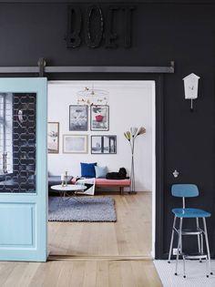 Sliding doors in a flat in Oslo