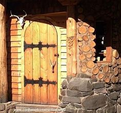 Cordwood Construction Amazing work - we probably can't afford it, but nice to look at.