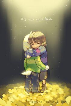 Resultado de imagem para hugging asriel