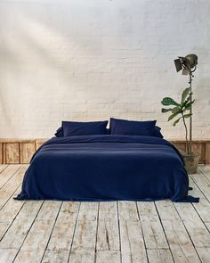 Crafted from cotton and bamboo in Turkey, the Navy Aegea Waffle Bedspread is perfect for soft snuggles. It adds warmth and comfort to any bed, sofa or lounging spot. Designed to add luxurious and effortless style, it can be used as a bedspread or throw. Wrap yourself in the night sky with beddable's navy, a rich inky blue. Beige Bedding Sets, Dark Grey Bedding, Striped Bedding, Green Bedding, White Bedding, Navy Bedspread, Bed Sofa, Bed Spreads, Luxury Bedding