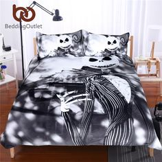 Black and White Bedding Set Nightmare Before Christmas