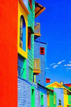 Colours of Caminito in La Boca, Buenos Aires, Argentina