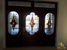 Barokk Színes Ólomüveg Ajtó Ablak Betét  
