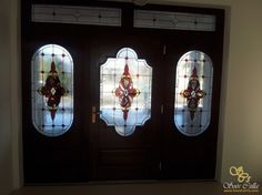 Barokk Színes Ólomüveg Ajtó Ablak Betét |