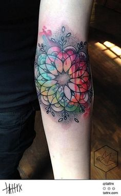 Yadou - Rainbow Mandala #ink #tattoo