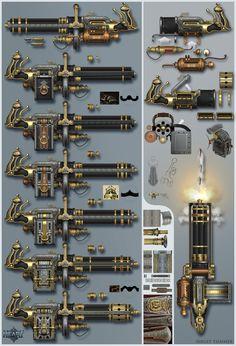 My concept snake gun for mobile game Monster Heart SNAKE GUN Mode Steampunk, Steampunk Weapons, Sci Fi Weapons, Weapon Concept Art, Fantasy Weapons, Weapons Guns, Guns And Ammo, Arsenal, Arte Assassins Creed