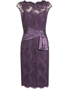 ORCHID EMBELLISHED CORDED LACE DRESS - Style Number: 2AC9878