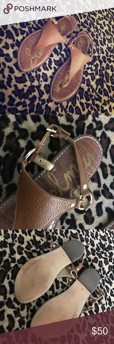 """Sam Edelman sandals Sam Edelman """"Greta"""" thong sandal. Worn only once and in very good condition. Size 6.5 but these run kind of small so these are perfect for a size 6. Sam Edelman Shoes"""
