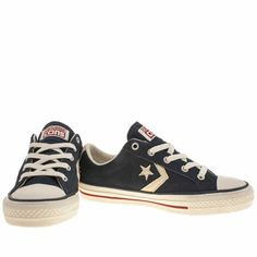 womens converse navy & stone star player ev oxford suede ii trainers