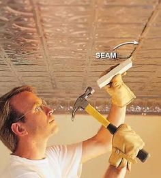 1000 Images About Ceiling Tiles Refurbs On Pinterest