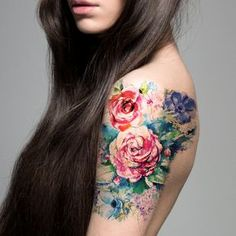 Supperb Large Temporary Tattoos Watercolor by SupperbTattoos