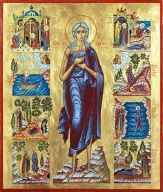 Orthodox Christian Education: St Mary Egypt Craft - Turn Life Around Byzantine Art, Byzantine Icons, St Mary Of Egypt, Egypt Crafts, Church Icon, Orthodox Christianity, Religious Images, Orthodox Icons, Sacred Art