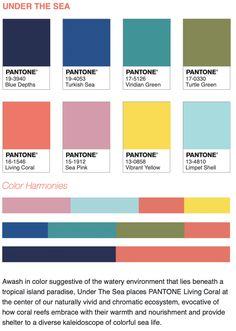 How to Use the Pantone Color of the Year 2019 We have created green color palette 2019 - Green Things Coral Colour Palette, Pantone Colour Palettes, Pantone Color, Color Trends, Color Combos, Paleta Pantone, Stoff Design, Pantone 2020, Color Harmony