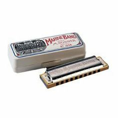 Hohner Marine Band Harmonica, Key of B by Hohner. $36.32. The Hohner Marine Band harmonica has been in use by harmonica players since 1896. Its pearwood body, brass reeds and design patented covers have made it the mainstay of Blues Masters for years. Whether your on stage or playing for your own enjoyment this harmonica can do it all Blues, Folk, Rock and Country.