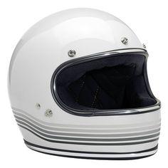 bb68fc0c288d Biltwell Gringo Spectrum Helmet Gloss White - www.urbanmotoculture.com  Motorcycle Gear