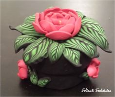 Polymer clay box Folies & Fantaisies