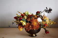Floral designer Lindsey Taylor tries her hand at translating a piece of fabric art into a tightly woven arrangement