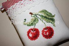 CHERRY Pincushion/Ornament by RainbowFelt on Etsy, $25.00