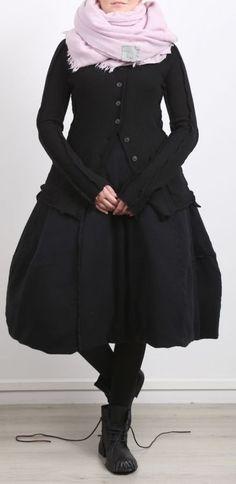 rundholz - Ballonrock Cashmere mit Daunen black