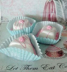 Marie Antoinette Petit Fours Tea Cakes by FakeCupcakeCreations, $15.50