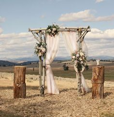 "Rustic, Romantic Vintage Lace Wedding Backdrop 102"" x 66"" Oval. $120.00, via Etsy."