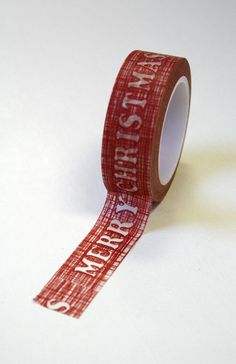 Merry Christmas Japenese Washi Tape by WaitingOnMarthaCraft, $3.25