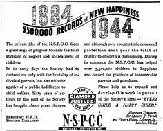 NSPCC. 26 April, 1944