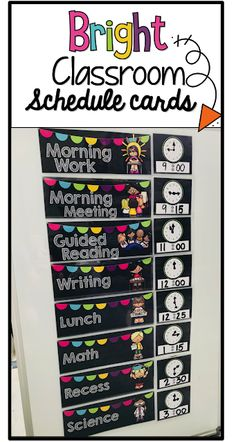 I used the schedule cards that are pictured below last year for my first grade classroom. Well established classroom routines and schedule. Preschool Classroom Schedule, Classroom Routines, First Grade Classroom, Classroom Setup, Future Classroom, Classroom Organization, Space Classroom, Kindergarten, Kids Schedule