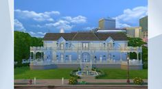 Confira este lote na Galeria do The Sims 4! - My largest build ever! I got inspired to maek something a little more fancy and went with a sort of southern manor. I hope you like it! #reddit