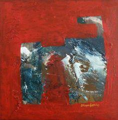 """Saatchi Art Artist GEORGE KARAFOTIAS; Painting, """"CAT"""" #art"""