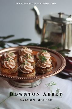 A recipe for salmon mousse inspired by the television series, Downton Abbey.