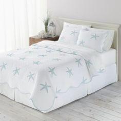 Home Classics Starfish Quilt - Full/Queen Beach Bedspreads, Beach Bedding, Coastal Bedding, Comforters, Beach Bedroom Decor, Beach Bedrooms, Bedroom Ideas, Costal Bedroom, Blue Bedroom