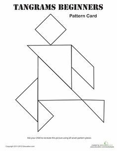 Worksheets: Easy Tangrams Puzzle #7