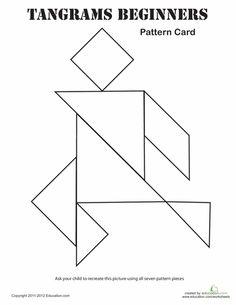 Rocket Tangram Printable | Preschool - Space | Pinterest | Tangram ...