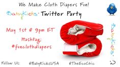 Join the BabyKicks Twitter Party 5/1! RSVP to win #clothdiapers