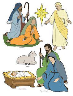 Birth of Jesus printable cutouts