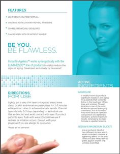 Instantly Ageless en Español New product sheet 2015 Fountain Of Youth, Love Your Skin, Without Makeup, Anti Wrinkle, Anti Aging Skin Care, What Is Like, Facebook, Board, Magic