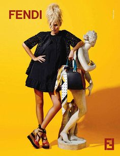 Statuesque Resort – The Fendi resort 2012 campaign taps Natasha Poly for ultra-bright images starring the Russian beauty with classic statues and mid-length skirts. Photographed by Karl Lagerfeld.I WISH I were RICH! Natasha Poly, Fendi, Frock And Frill, Campaign Fashion, Russian Beauty, Mid Length Skirts, Mode Editorials, Casual Elegance, Touken Ranbu