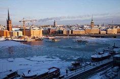 Stockholm i mitt hjärta. Vacker vinterbild från Söder.