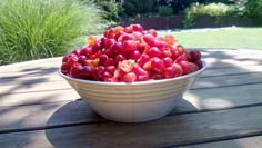 Fruit Salad, Cherry, Strawberry, Snacks, Food, Fruit Salads, Appetizers, Essen, Strawberry Fruit