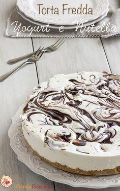 Torta fredda con Nutella e yogurt senza gelatina e senza cottura