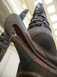 Totem Poles on display in The Field Museum of Natural History, Chicago - Google Search
