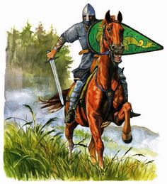 Really nice illustration of a Norman cavalryman - circa 11th century.