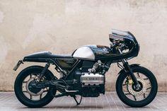 BMW Cafe Racer Flying Brick By Bike Lab - Custom Motorcycles & Classic Motorcycles - BikeGlam Bmw Cafe Racer, Moto Cafe, Cafe Bike, Cafe Racers, Street Tracker, Ducati, Honda Bobber, K100 Bmw, Martial