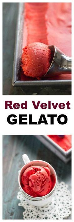 Red Velvet Cheesecake Gelato - Lemons for Lulu - Food and Recipe Blog