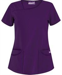 Butter-Soft Scrubs by UA™ Solid Asymmetrical Neck 4-Pocket Top
