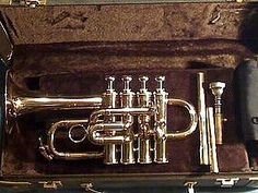 TRUMPET SELMER, Paris Piccolo A & Bb 4 Valve Like New THIS is my Piccolo Trumpet!